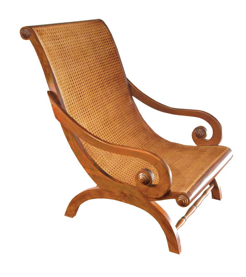 beautiful-rattan-mahogany-lazy-chair